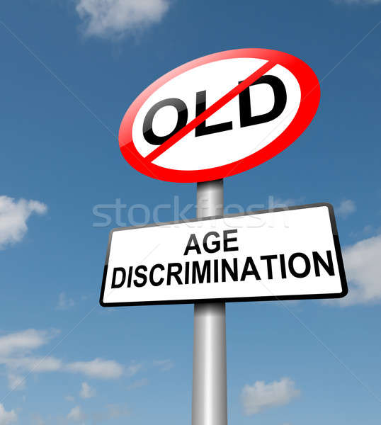 âge discrimination illustration route panneau de signalisation ciel bleu Photo stock © 72soul