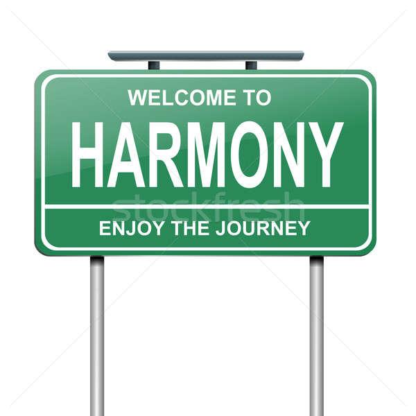 Harmonia ilustracja zielone biały drogowego Zdjęcia stock © 72soul