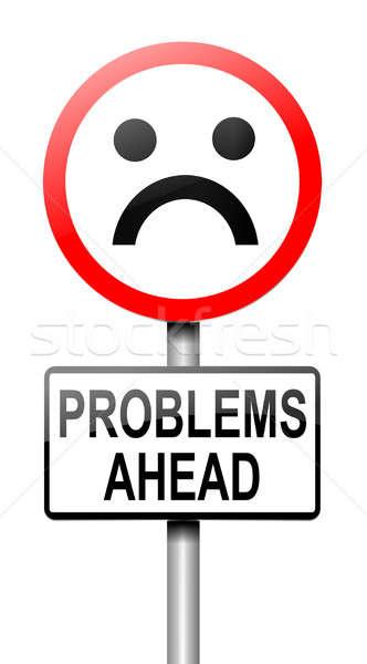 Problemen vooruit illustratie probleem witte Stockfoto © 72soul