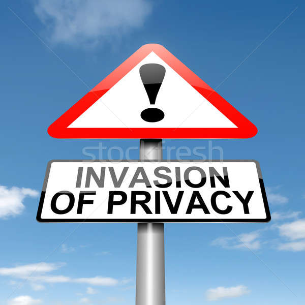 Invasie privacy waarschuwing illustratie hemel Stockfoto © 72soul