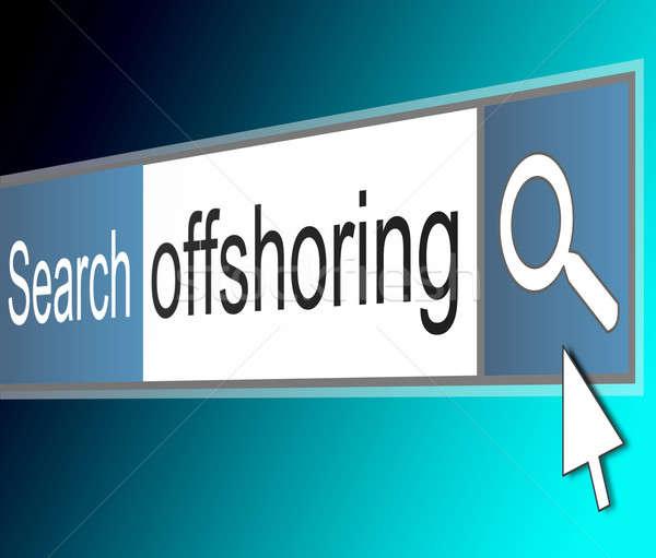 Illustrazione screenshot internet ricerca bar schermo Foto d'archivio © 72soul