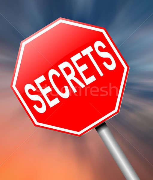 Secrets illustration signe fond sécurité informations Photo stock © 72soul