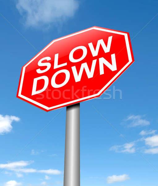 Slow down concept. Stock photo © 72soul