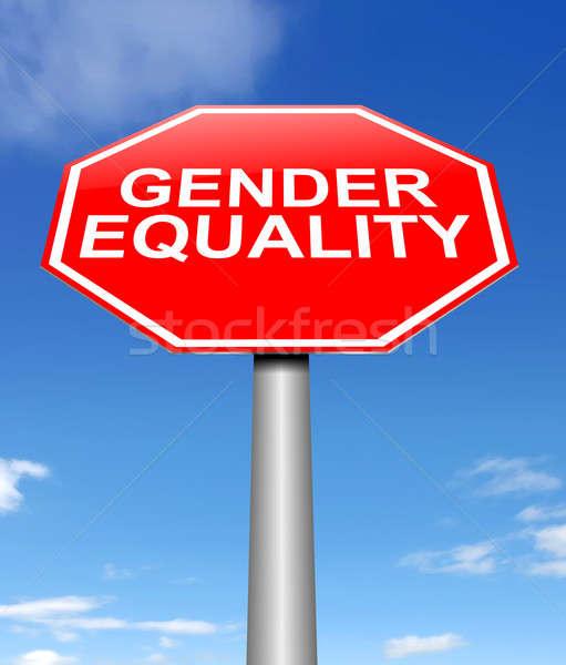 ジェンダー 平等 実例 にログイン 赤 グラフィック ストックフォト © 72soul
