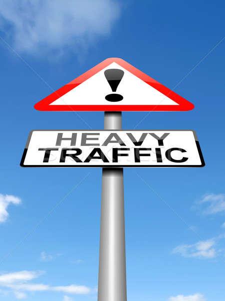 Verkeer illustratie teken concept waarschuwing conceptuele Stockfoto © 72soul