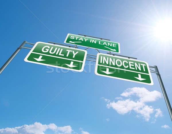 виновный невинный иллюстрация шоссе знак Blue Sky Сток-фото © 72soul
