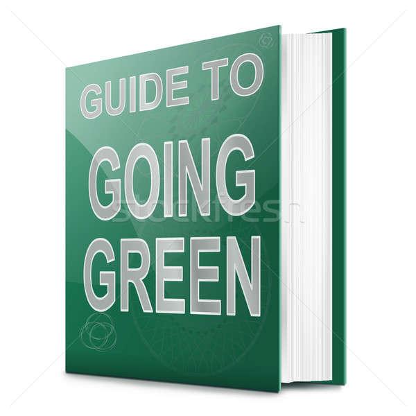 Zöld illusztráció könyv cím fehér háttér Stock fotó © 72soul