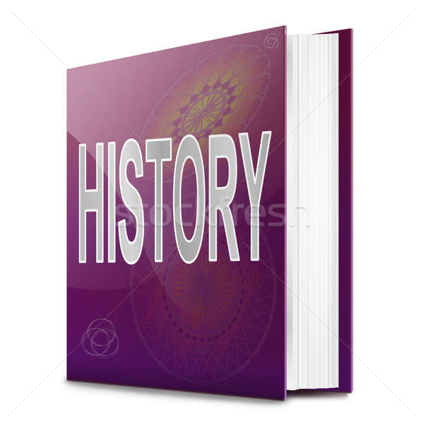 Stock photo: History text book.