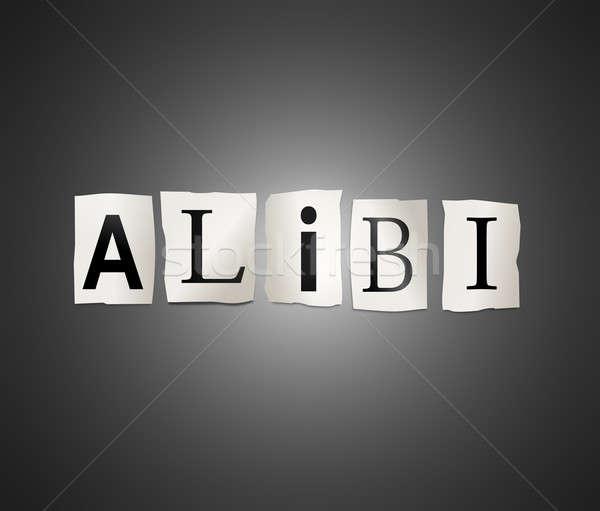 Alibi concept. Stock photo © 72soul