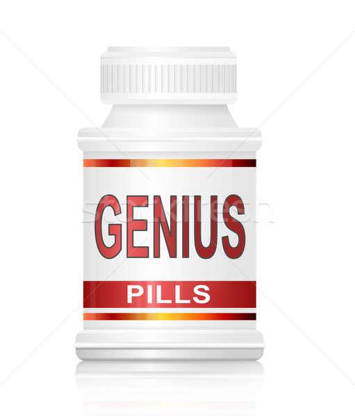 Genie Pillen Illustration Container Hintergrund Stock foto © 72soul