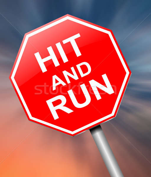 Hit and run sign. Stock photo © 72soul