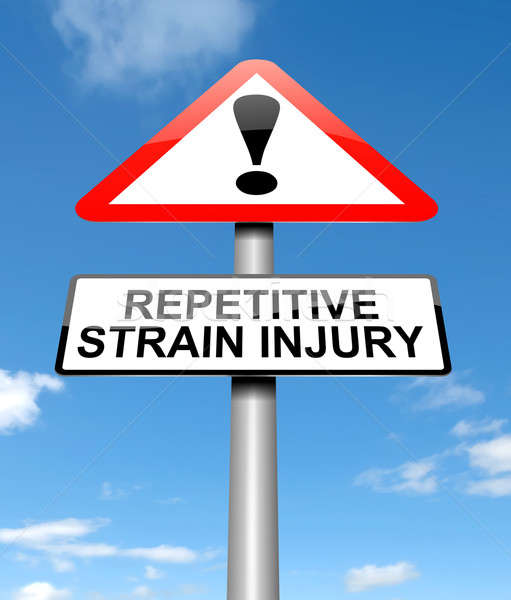 Stock photo: Repetitive strain injury concept.