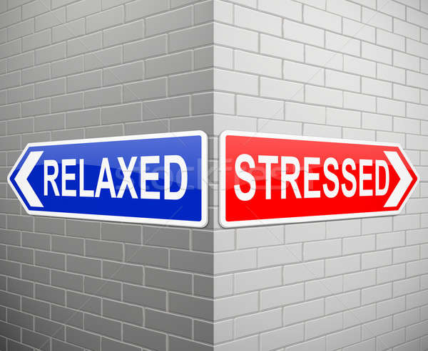 Stressed or relaxed concept. Stock photo © 72soul