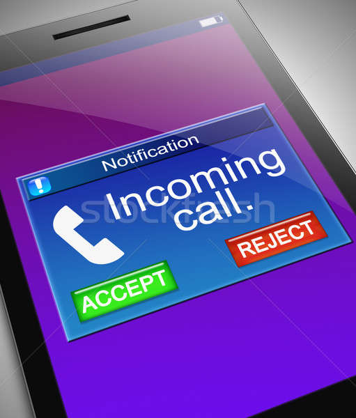 Incoming call concept. Stock photo © 72soul