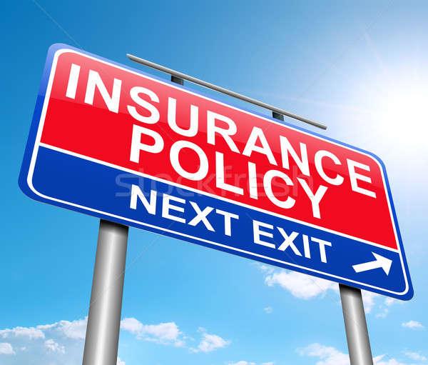 Assurance illustration signe graphique panneau routier protection Photo stock © 72soul