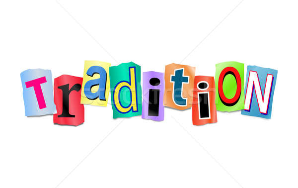 Tradition illustration imprimé lettres Photo stock © 72soul