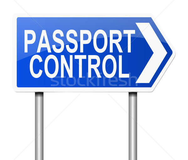 Passport control sign. Stock photo © 72soul