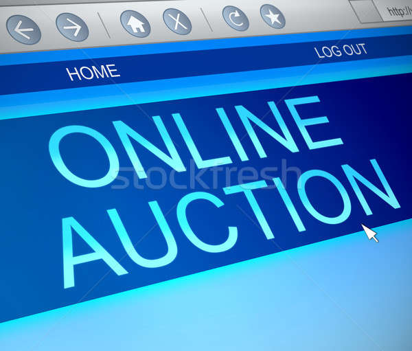 Online auction concept. Stock photo © 72soul