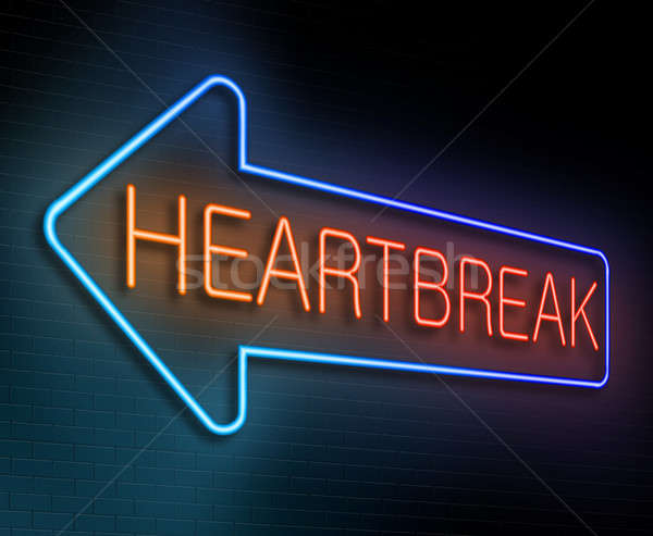 Heartbreak sign concept. Stock photo © 72soul