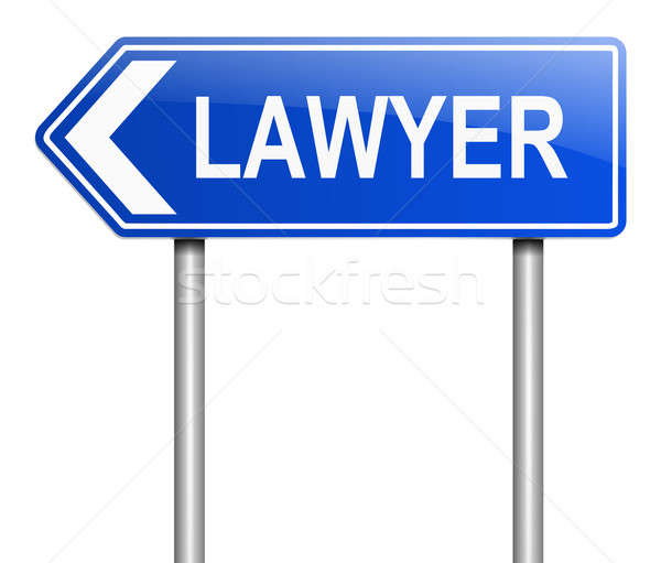 Lawyer sign concept. Stock photo © 72soul