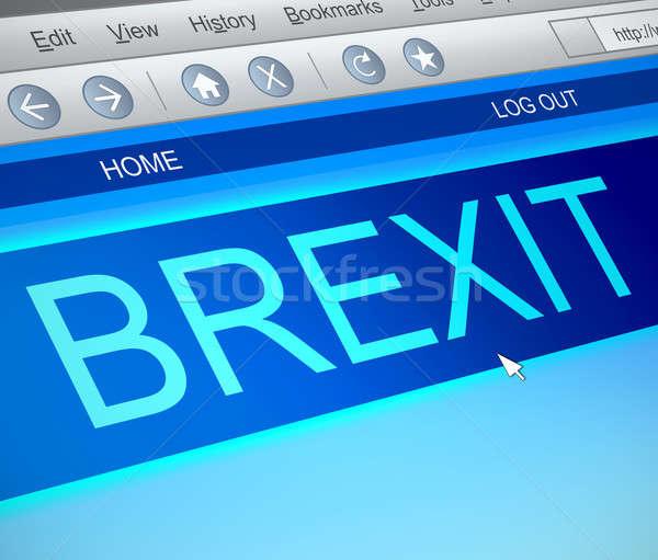 Bexit online concept. Stock photo © 72soul