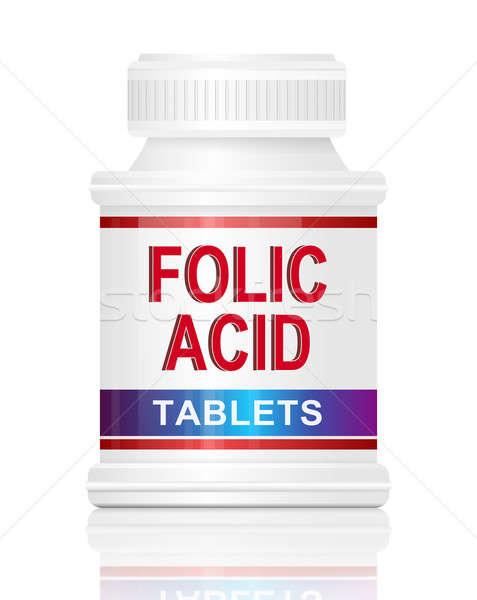 ácido ilustração recipiente palavras Foto stock © 72soul