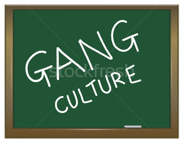 Gangue cultura ilustração verde giz conselho Foto stock © 72soul