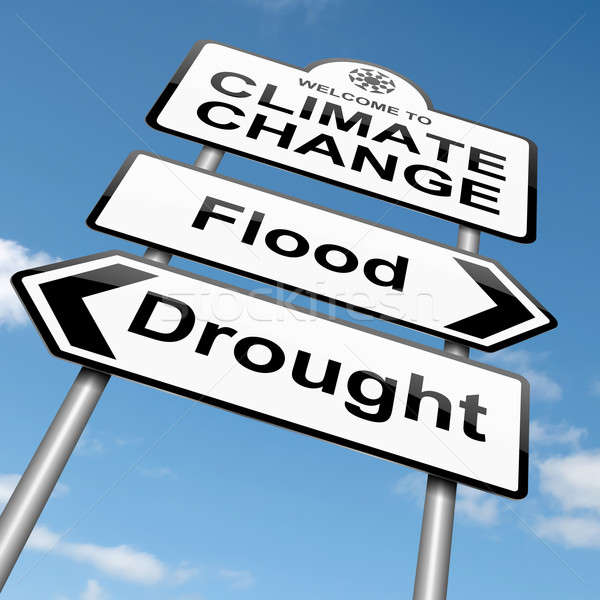 Iklim değişikliği örnek gökyüzü arka plan toprak Stok fotoğraf © 72soul