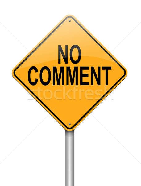 Geen commentaar illustratie teken achtergrond spreken Stockfoto © 72soul