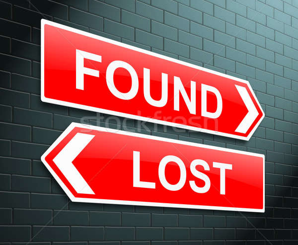 Lost or found concept. Stock photo © 72soul