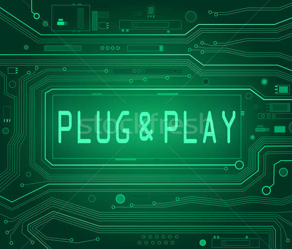 Plug and Play concept. Stock photo © 72soul