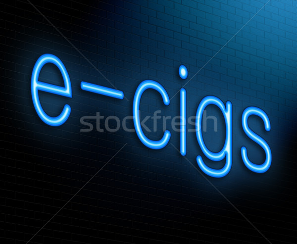 иллюстрация знак синий сигарету Сток-фото © 72soul