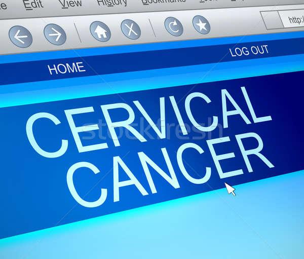 Kanker informatie illustratie computerscherm vangen internet Stockfoto © 72soul