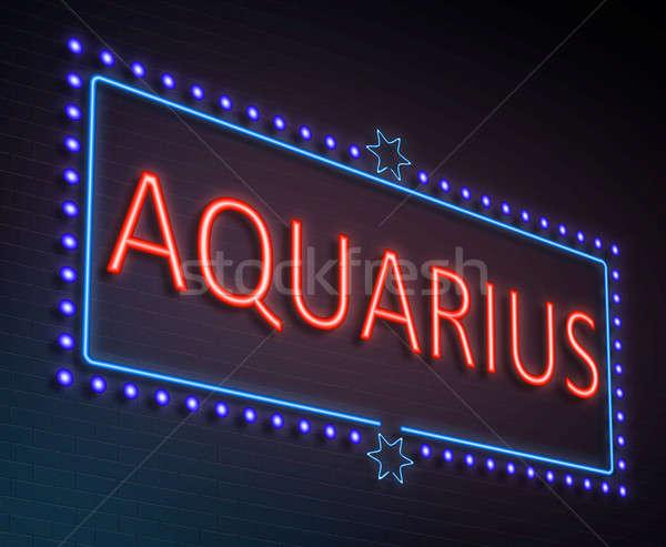 Aquarius sign concept. Stock photo © 72soul