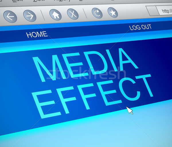 интернет СМИ эффект иллюстрация экране компьютера захват Сток-фото © 72soul