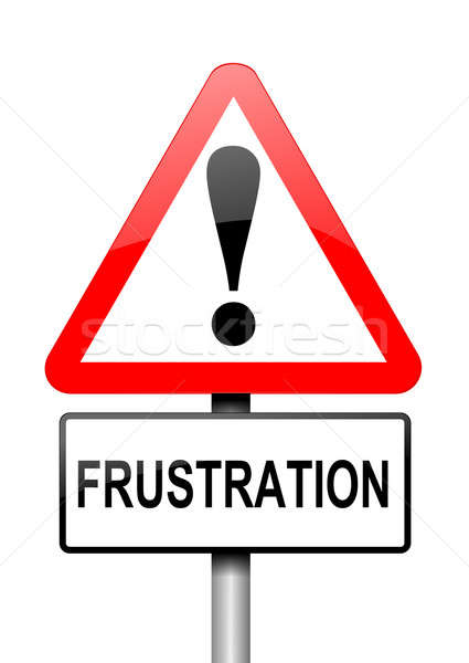 Frustration warning concept. Stock photo © 72soul