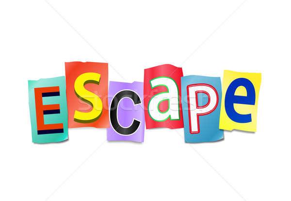 Escapar ilustração impresso cartas forma Foto stock © 72soul