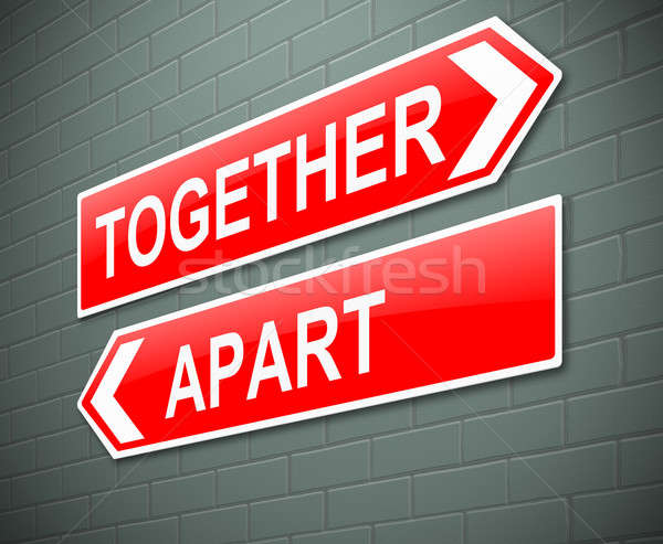 Together or apart concept. Stock photo © 72soul