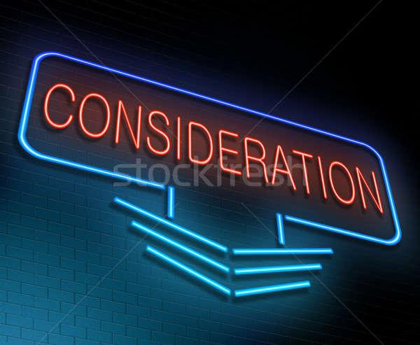 Illustratie verlicht neonreclame teken Rood studie Stockfoto © 72soul