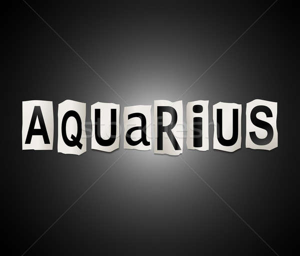 Aquarius word concept. Stock photo © 72soul