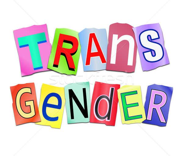 トランスジェンダー 言葉 実例 セット 印刷 ストックフォト © 72soul