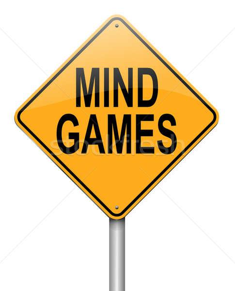 Mente giochi illustrazione bianco segno Foto d'archivio © 72soul