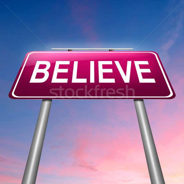 Believe concept. Stock photo © 72soul