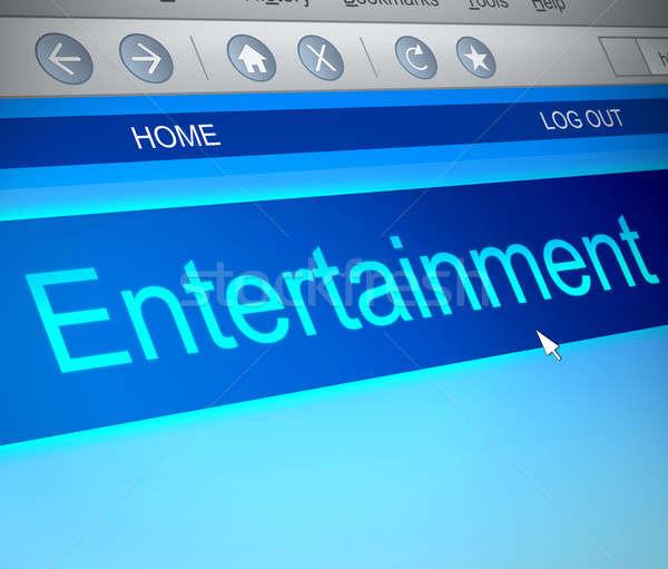 エンターテイメント 実例 コンピュータの画面 捕獲 楽しい 画面 ストックフォト © 72soul
