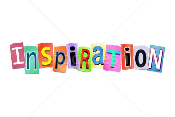 Inspiración ilustración establecer impreso cartas Foto stock © 72soul