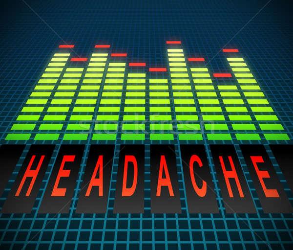 Głowy ilustracja graficzne korektor technologii czerwony Zdjęcia stock © 72soul