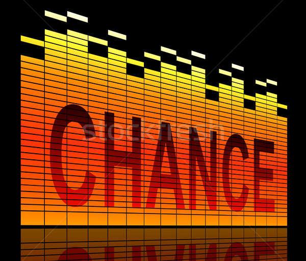 шанс иллюстрация графических эквалайзер черный будущем Сток-фото © 72soul