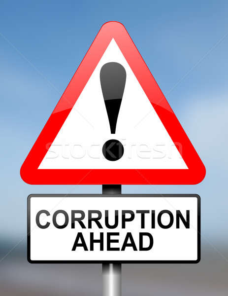 Corruption warning. Stock photo © 72soul