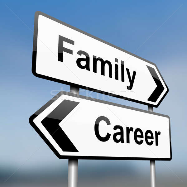 Family or career. Stock photo © 72soul