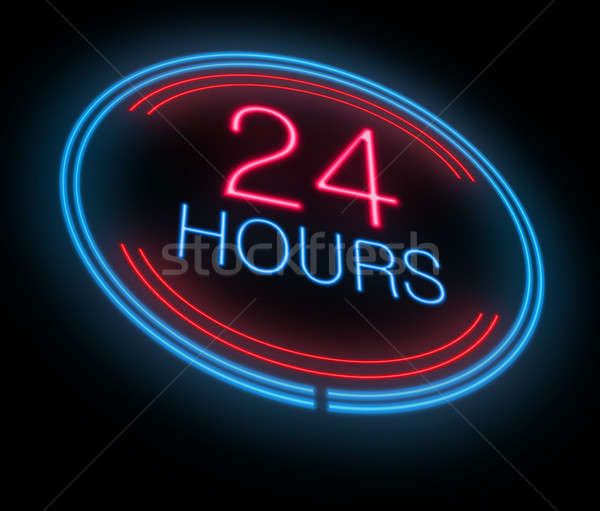 Open 24 hours. Stock photo © 72soul